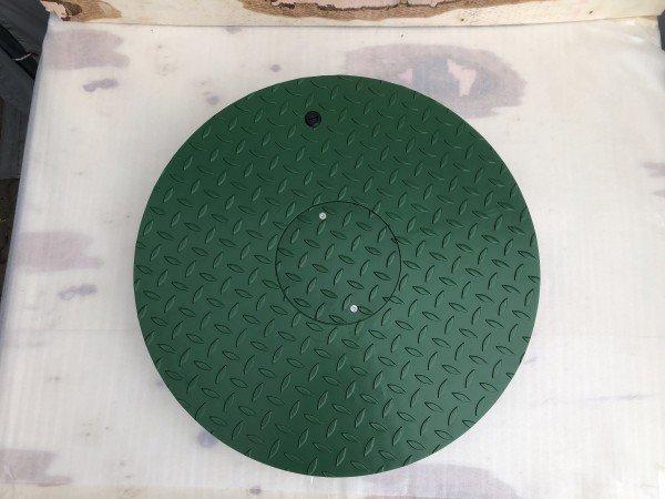 Stahldeckel TWIN mit Zierkranz - grün -