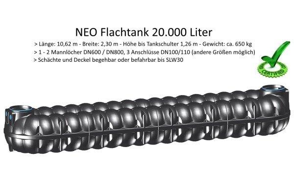 20000 Liter Abwasser-Flachtank