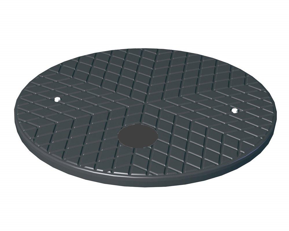 PE-Deckel schwarz begehbar bis 150 kg