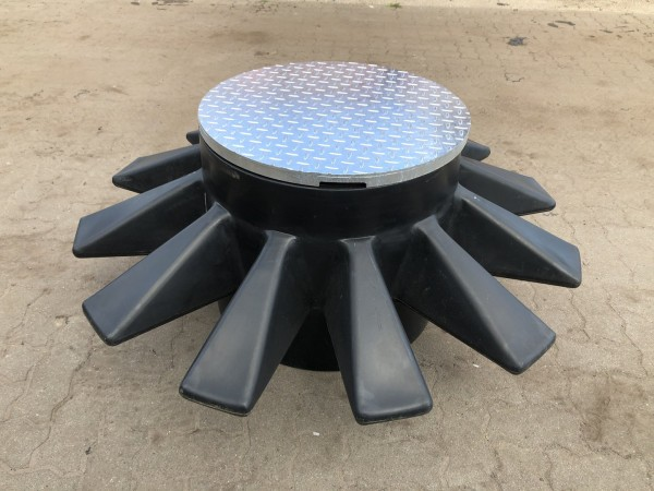 Überfahrbares Sternmodul mit Stahldeckel