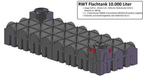 10000 L RWT Flachtank