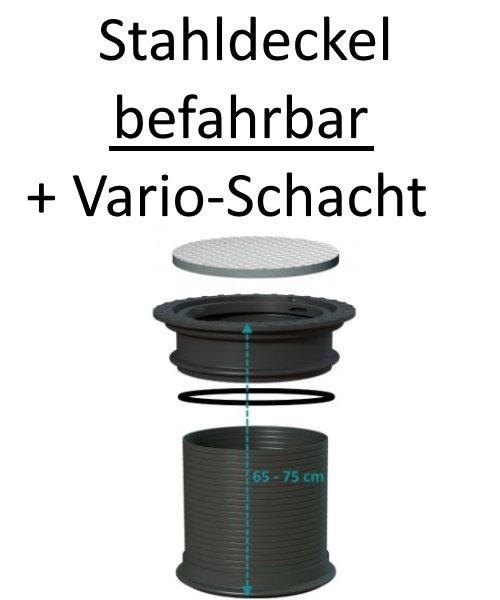 Stahldeckel SOLID befahrbar 2,2 t Achslast + Vario-Schacht bis 75 cm