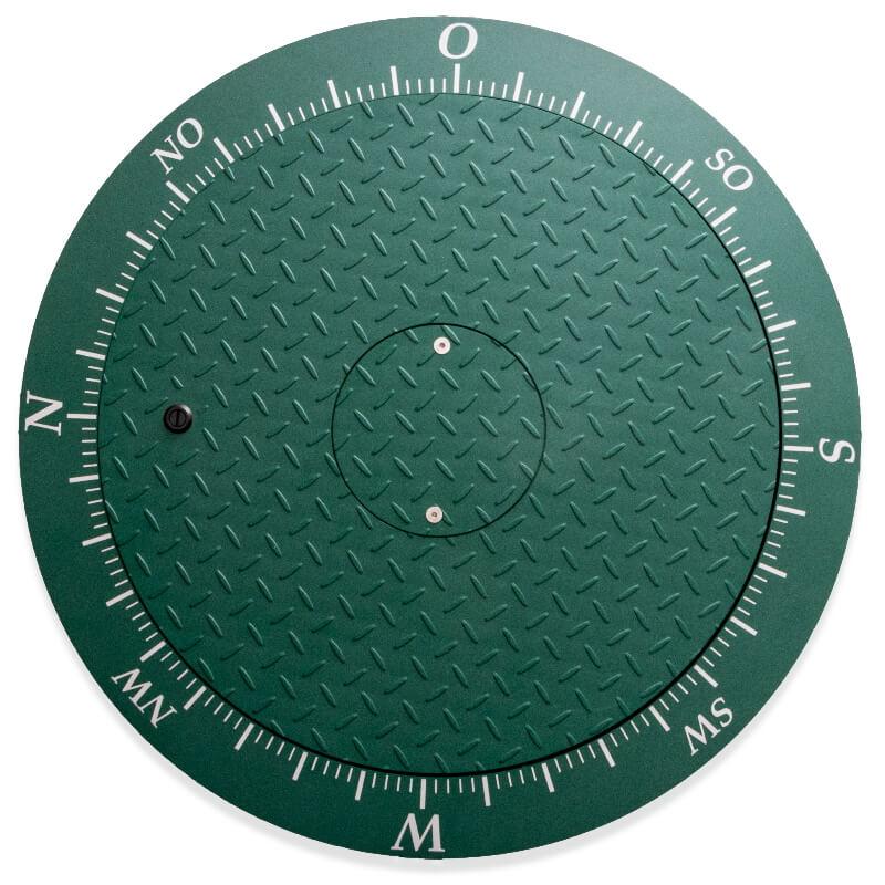 Stahldeckel tannengrün, befahrbar bis 600 kg Radlast