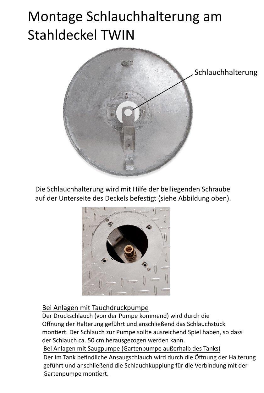 Stahldeckel-Twin-Schlauchhalterung