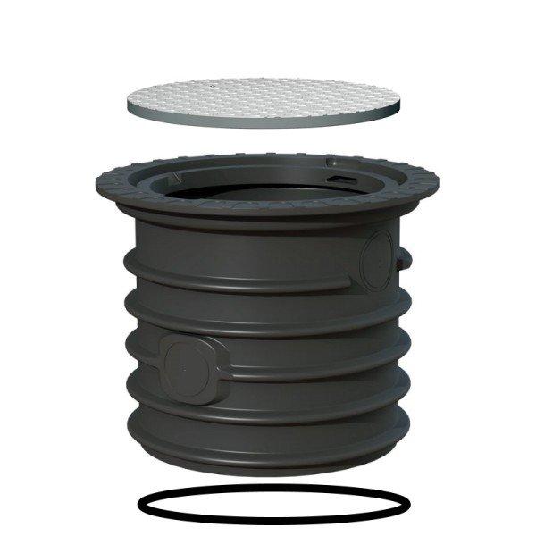 Schachtverlängerung 60 cm + Stahldeckel befahrbar