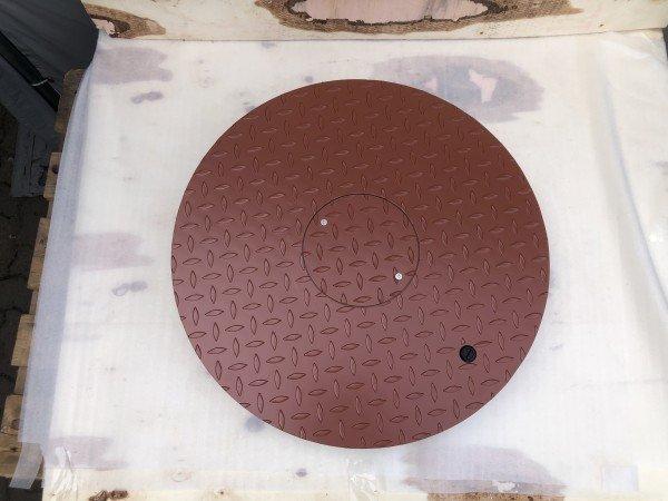Stahldeckel TWIN mit Zierkranz - rotbraun-
