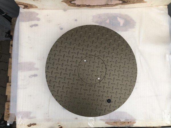 Stahldeckel TWIN mit Zierkranz - goldbraun-