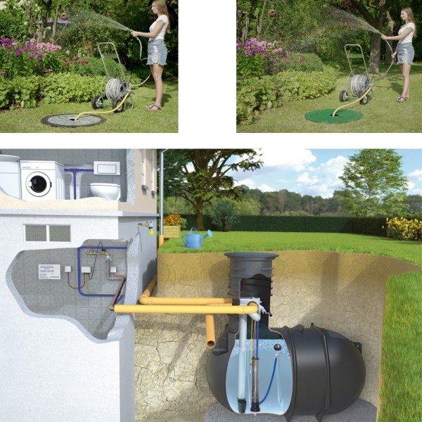 RWT Classic 10000 L Haus- und Gartenanlage mit Tauchdruckpumpe
