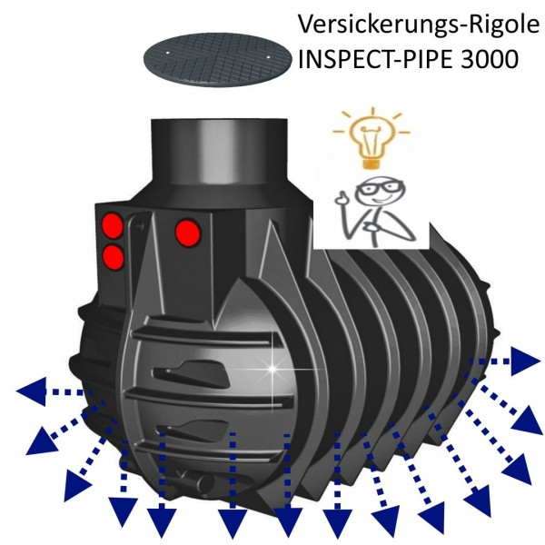 Versickerungs-Rigole INSPECT-PIPE 3000