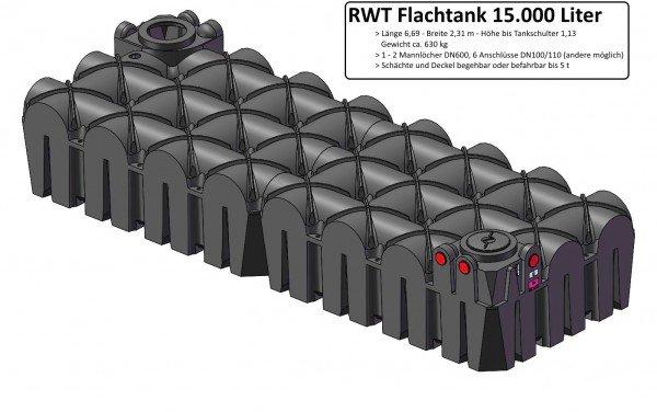 15000 L RWT Flachtank