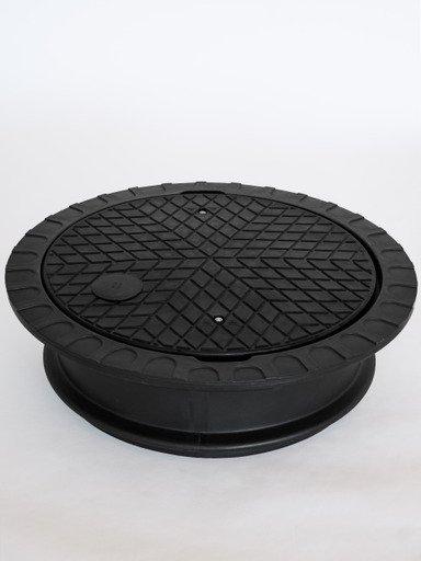 PE-Deckel doppelwandig schwarz